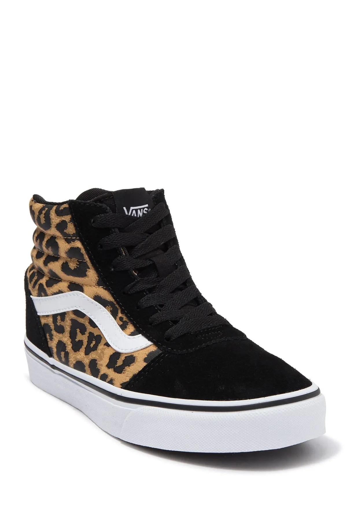 vans ward leopard print high top sneaker nordstrom rack