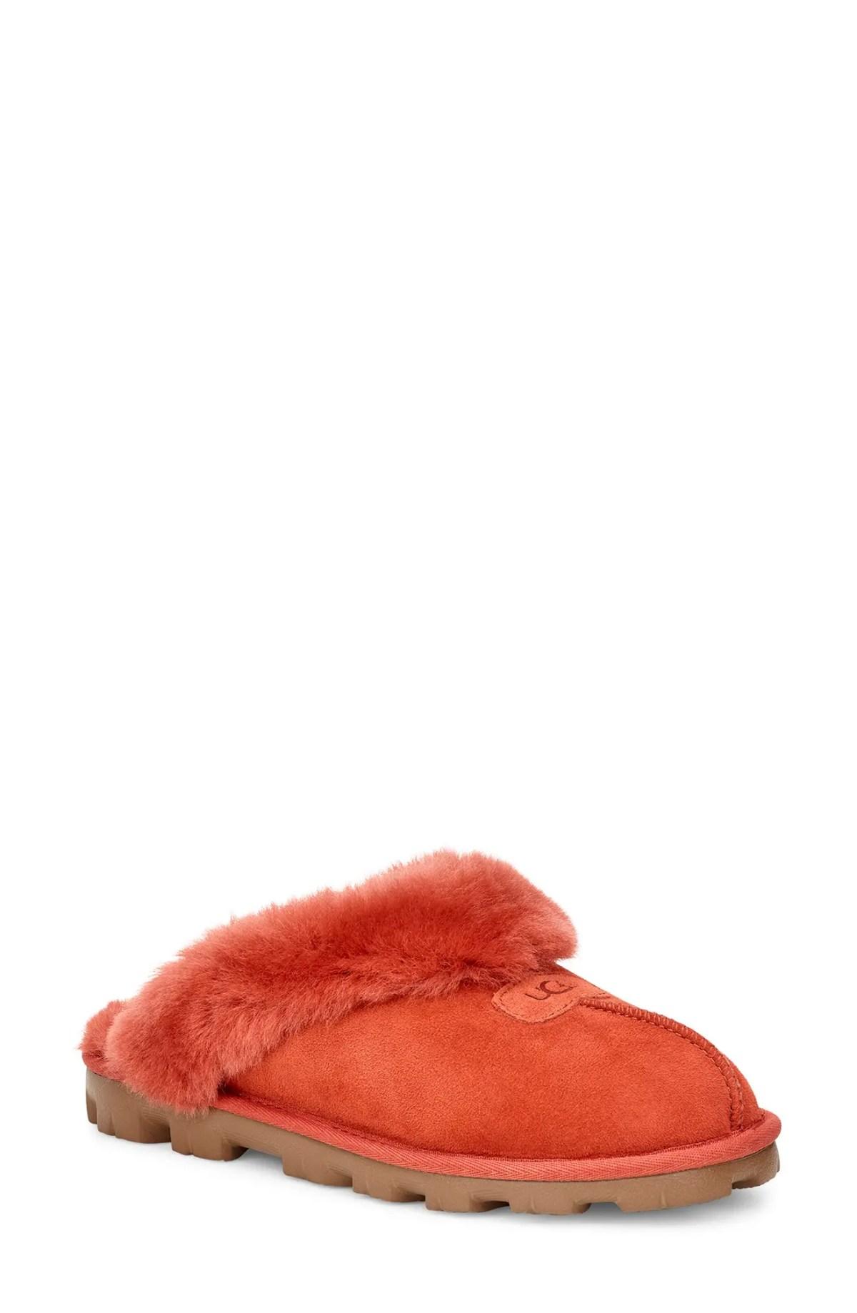UGG<SUP>®</SUP> Genuine Shearling Slipper, Main, color, TERRACOTTA
