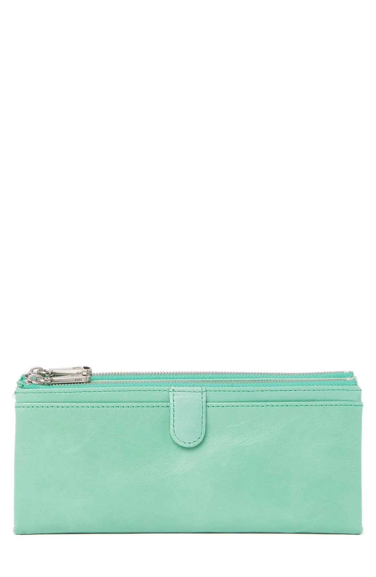 12800 60 off FREE SHIPPING ON ORDERS 89. Hobo Taylor Glazed Leather Wallet In Mint At Nordstrom Rack Modesens