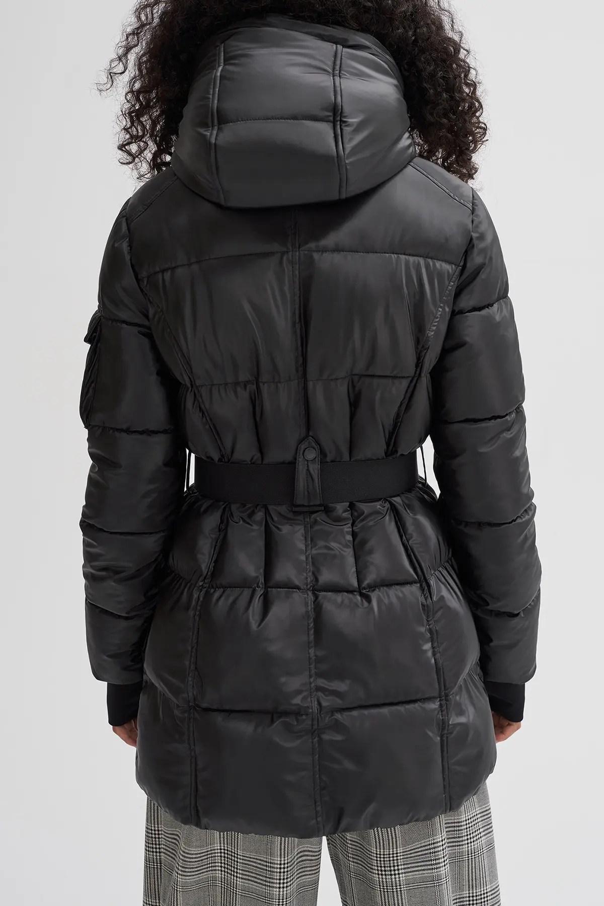 becka hooded puffer coat