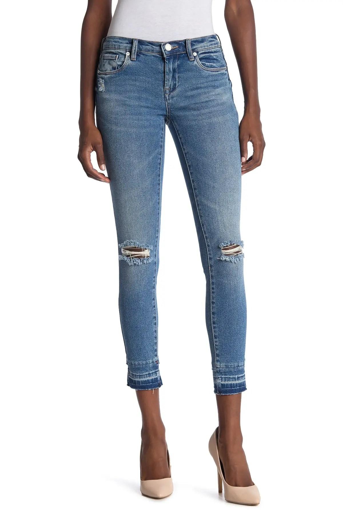 blanknyc denim the reade released hem ripped skinny jeans nordstrom rack