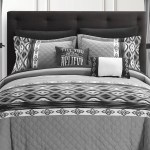 Chic Home Bedding Nysh Color Block Geometric Ikat Technique With Embroidery Details King Comforter Set Black 20 Piece Set Nordstrom Rack