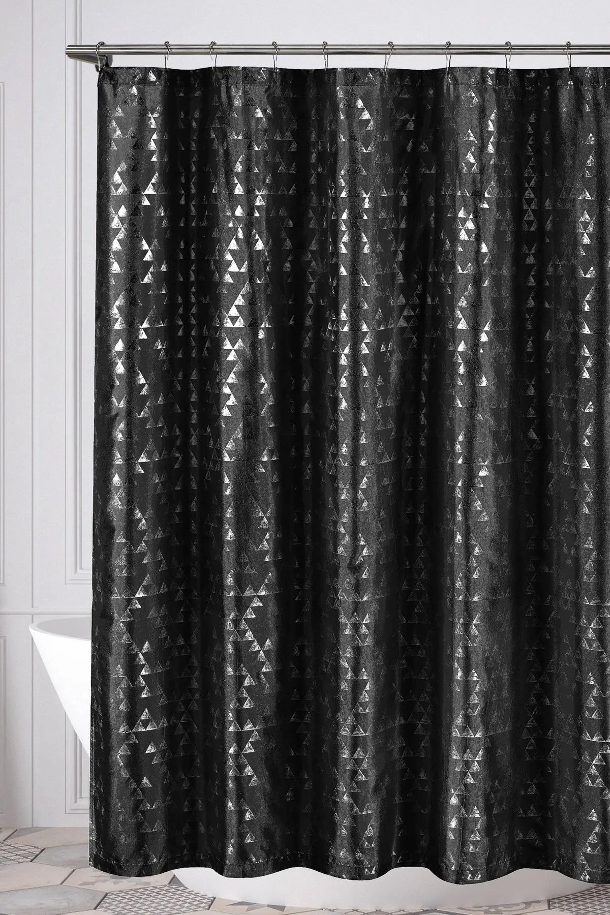 duck river textile juno geometric shower curtain black nordstrom rack