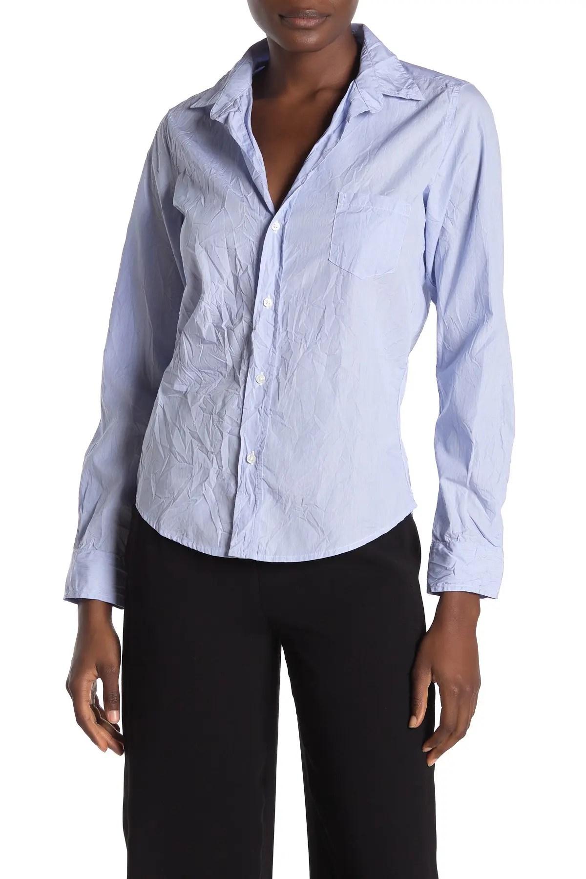 frank eileen barry signature crinkle stripe print shirt nordstrom rack