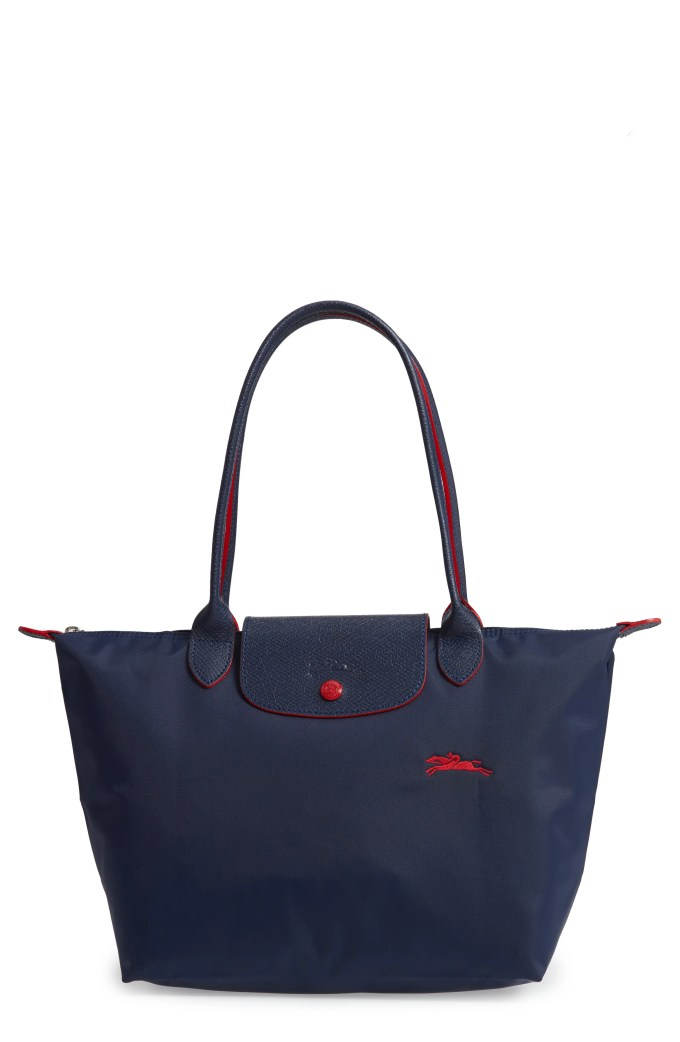Le Pliage Club Medium Shoulder Tote, Main, color, NAVY