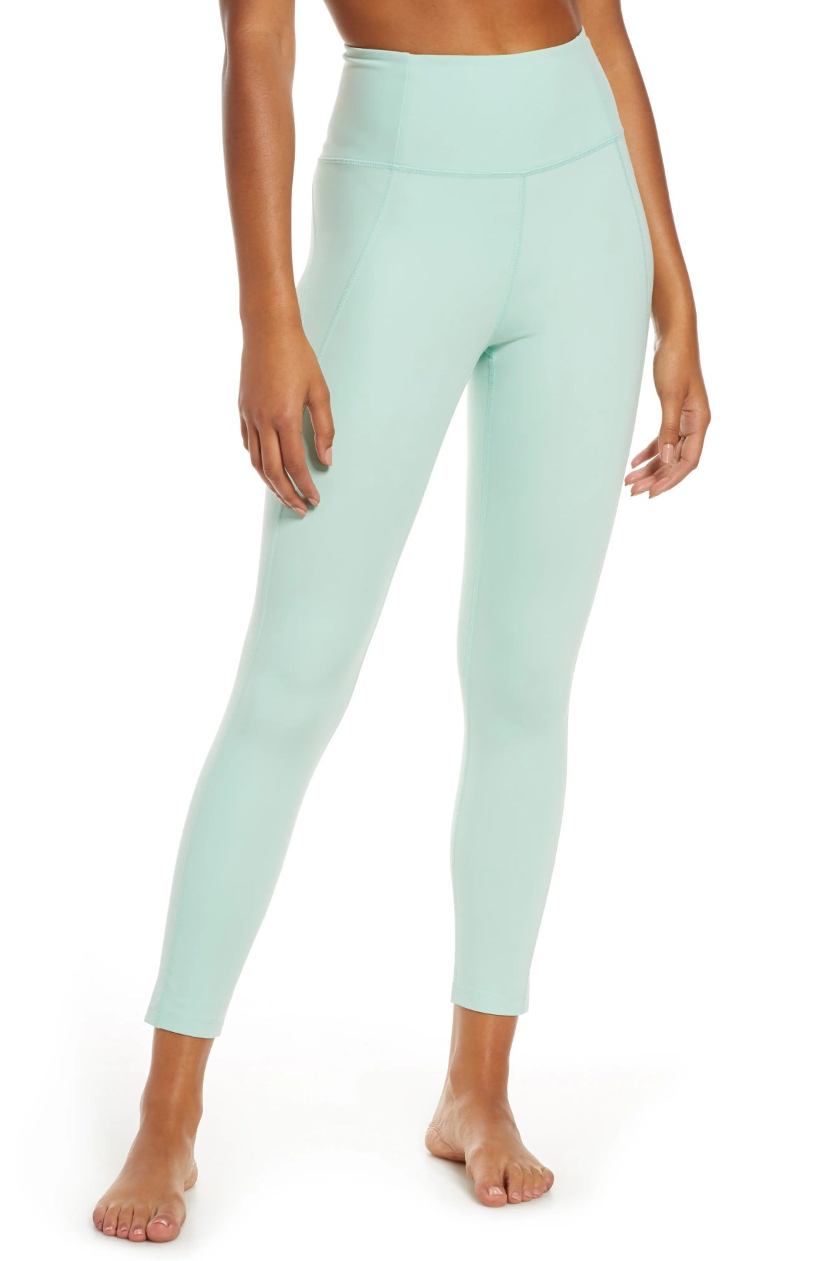 GIRLFRIEND COLLECTIVE High Waist 7/8 Leggings, Main, color, FOAM