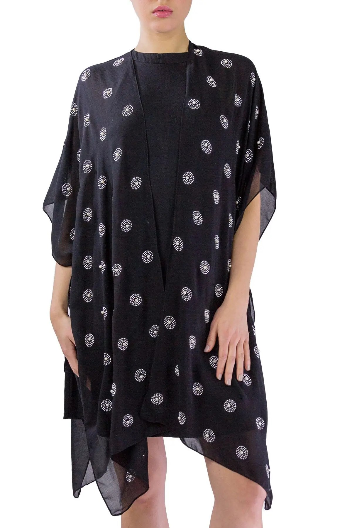 just jamie chiffon kimono with all over circles nordstrom rack