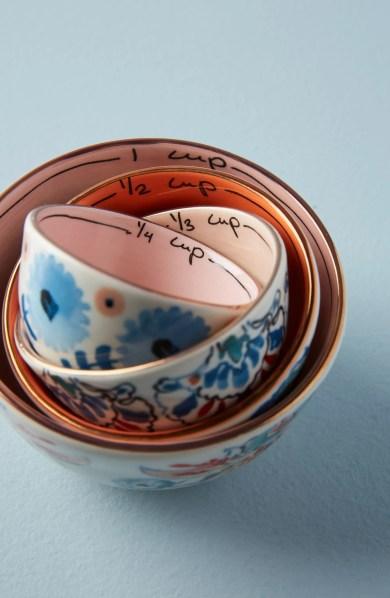 ANTHROPOLOGIE Eres Set of 4 Measuring Cups, Main, color, BLUE MULTI
