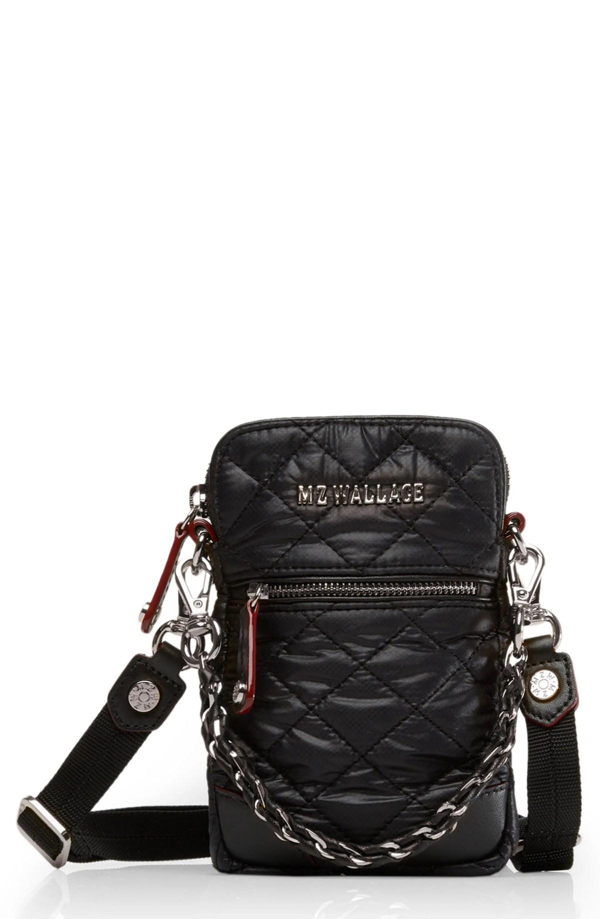 MZ WALLACE Micro Crosby Bag, Main, color, BLACK