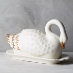 Anthropologie Ceramic Swan Butter Dish Nordstrom