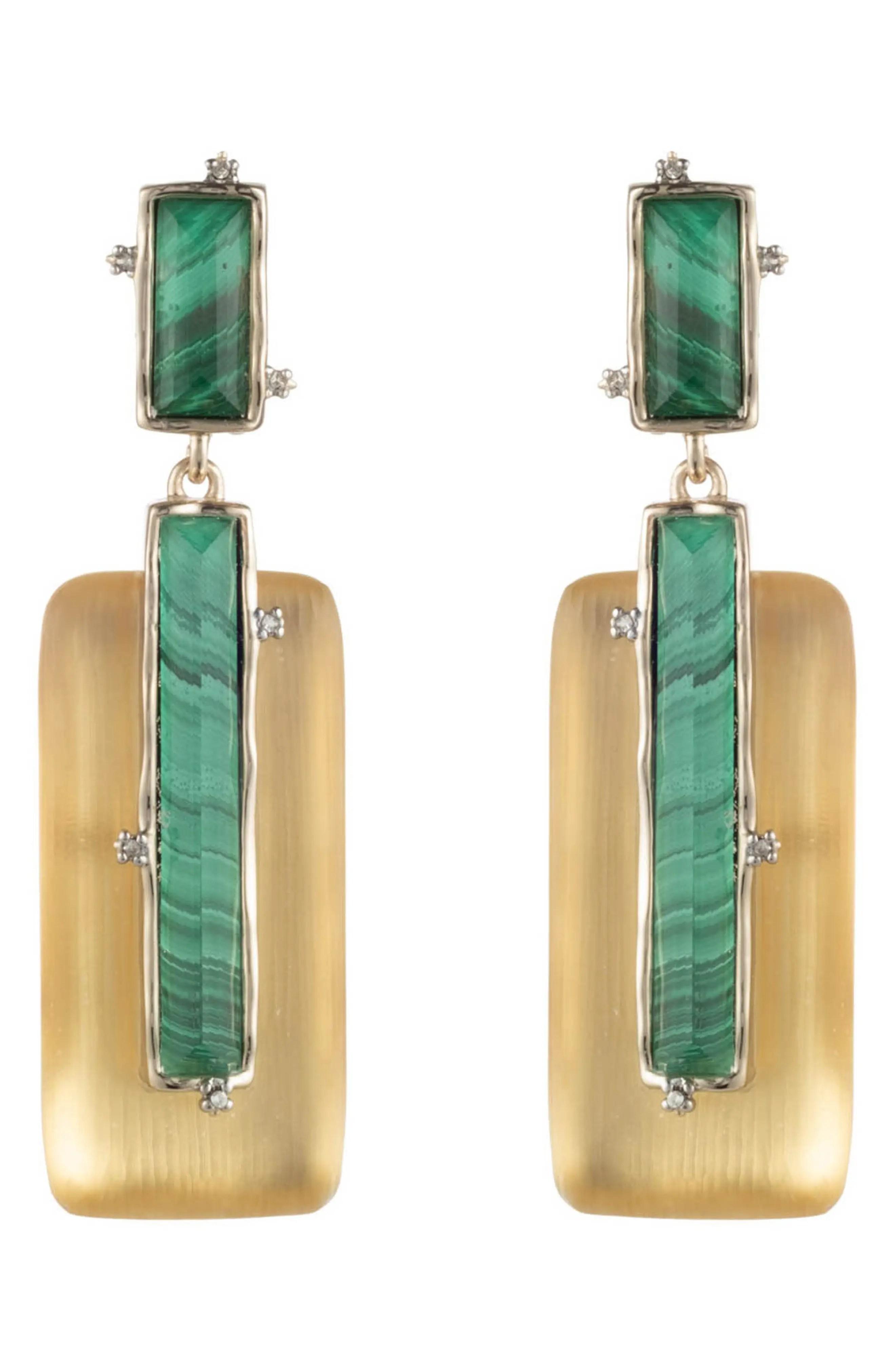 alexis bittar stone studded retro clip on drop earrings nordstrom rack