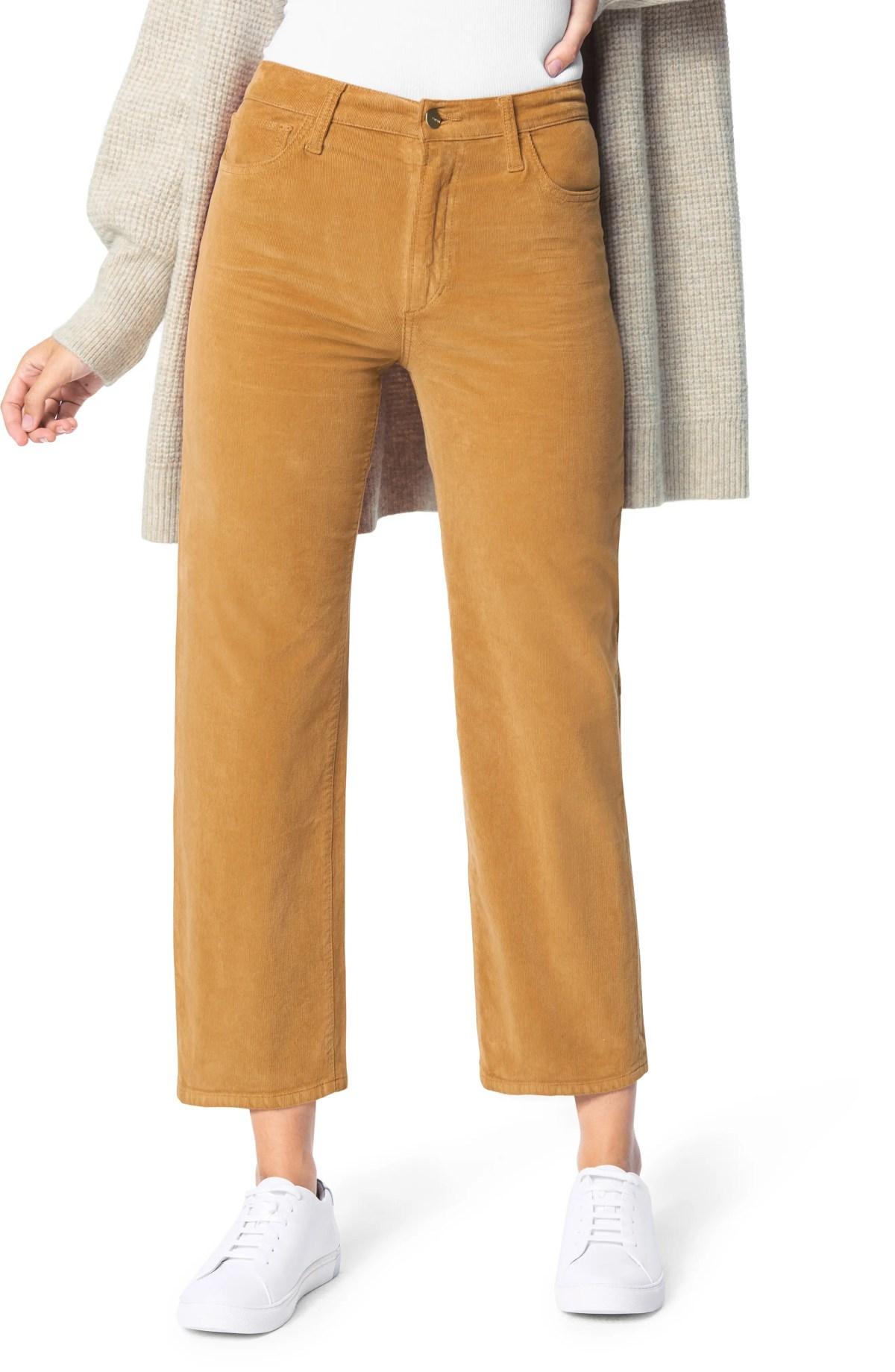 JOE'S The Blake High Waist Crop Wide Leg Corduroy Jeans, Main, color, BUTTERSCOTCH