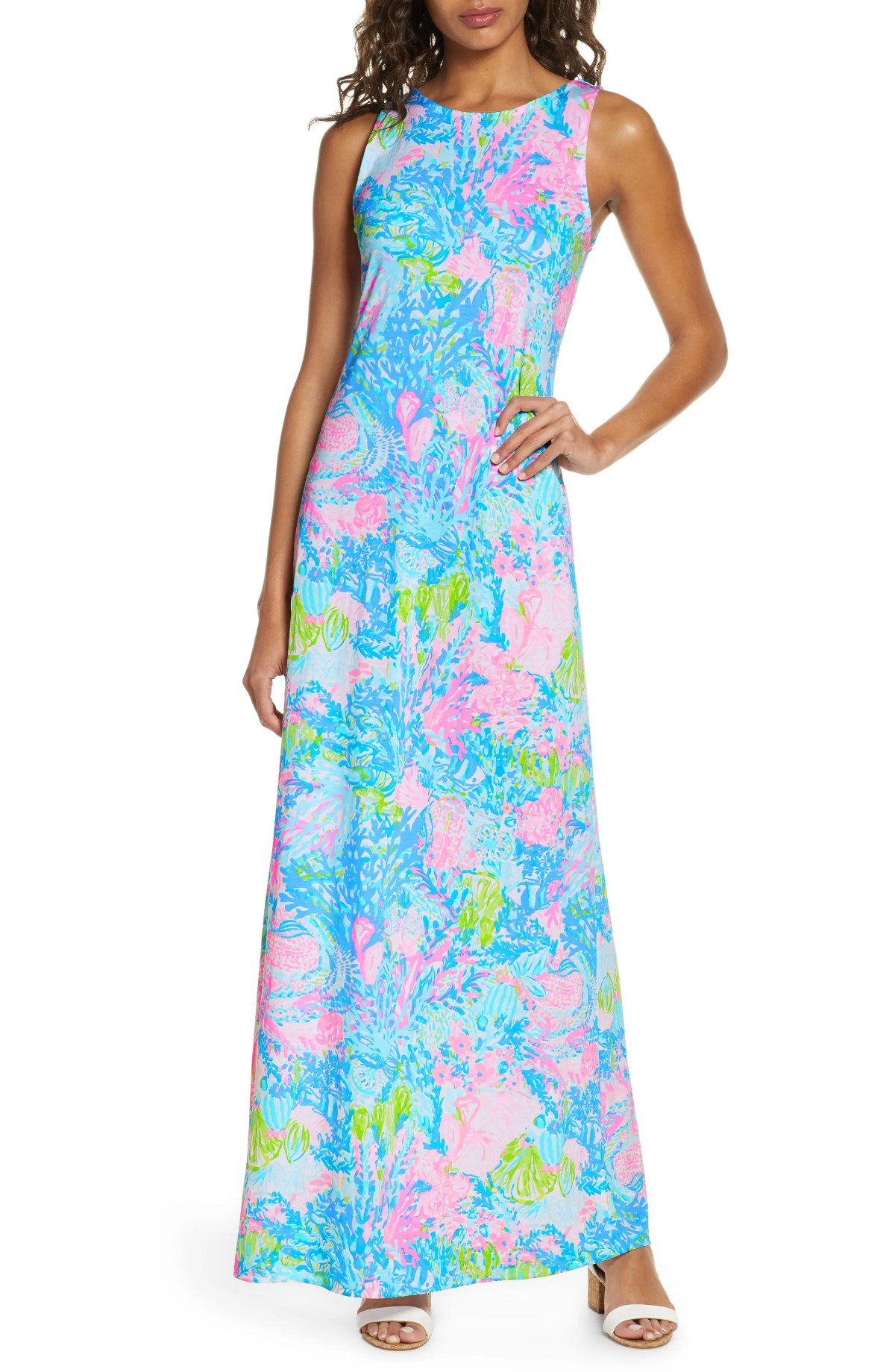 LILLY PULITZER<SUP>®</SUP> Marcella Maxi Dress, Main, color, MULTI