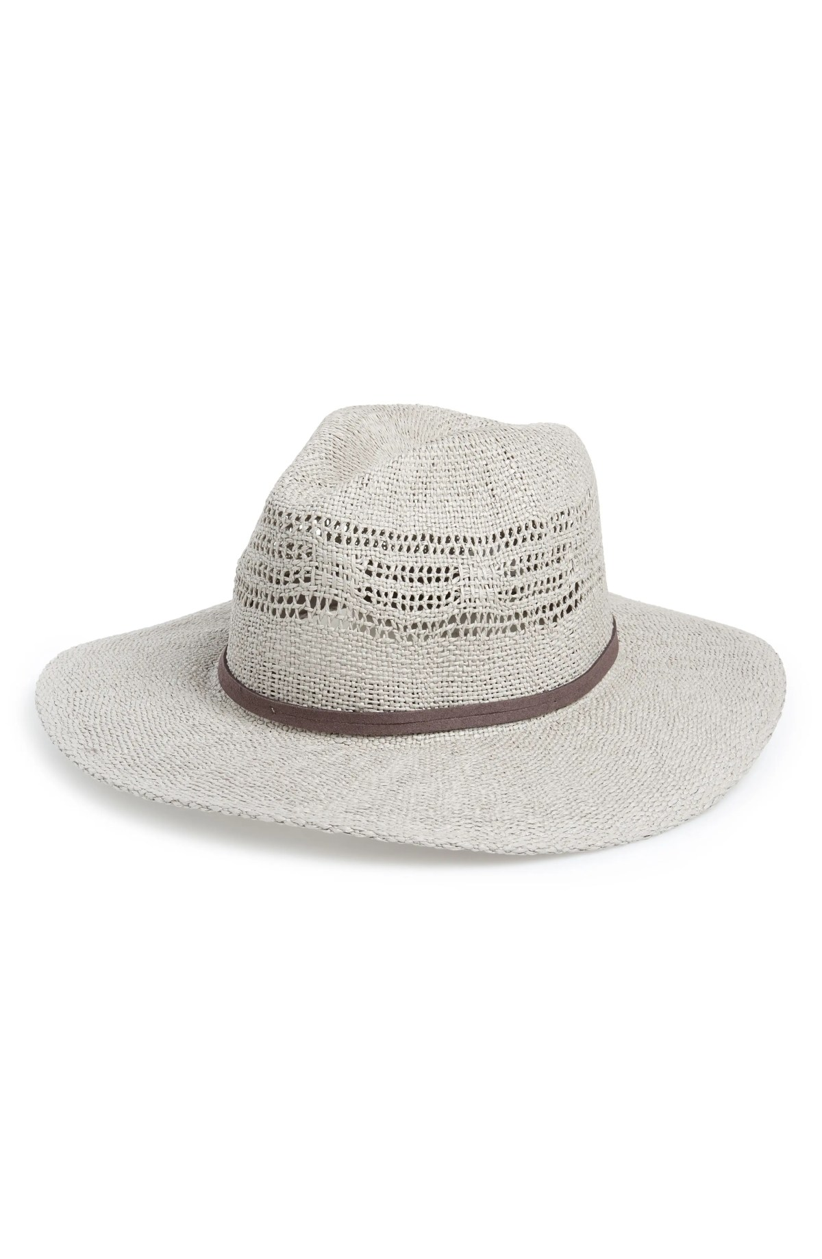 Open Weave Panama Hat, Main, color, GREY