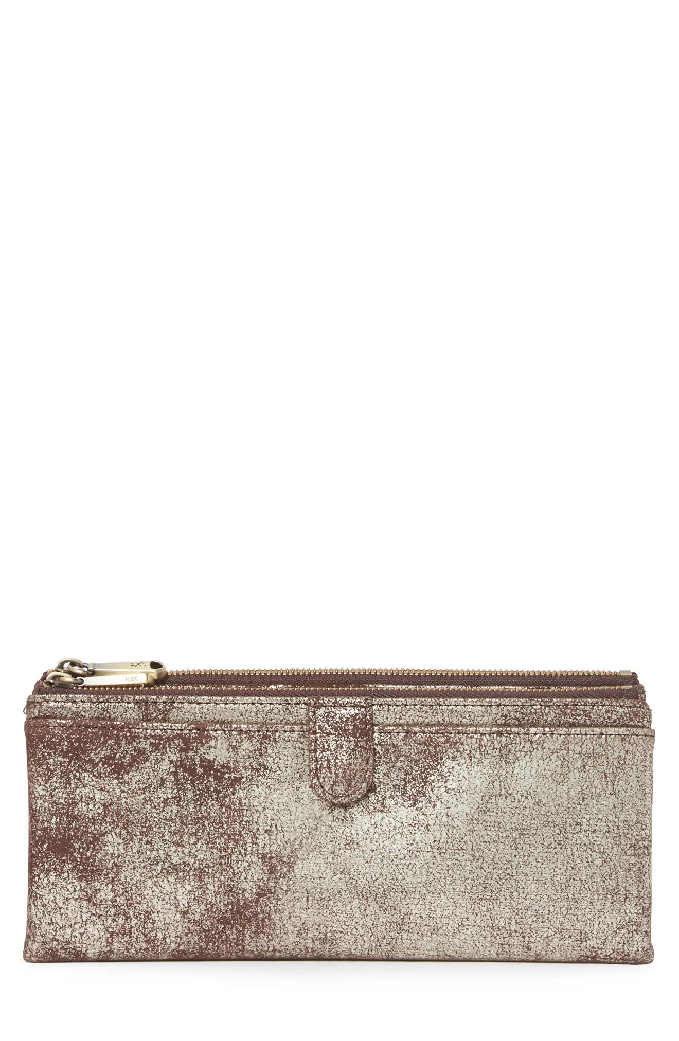 Plus ship free to store. Hobo Taylor Glazed Leather Wallet In Heavy Metal At Nordstrom Rack Modesens