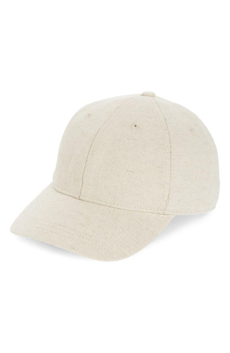 Cotton Linen Baseball Cap Nordstrom