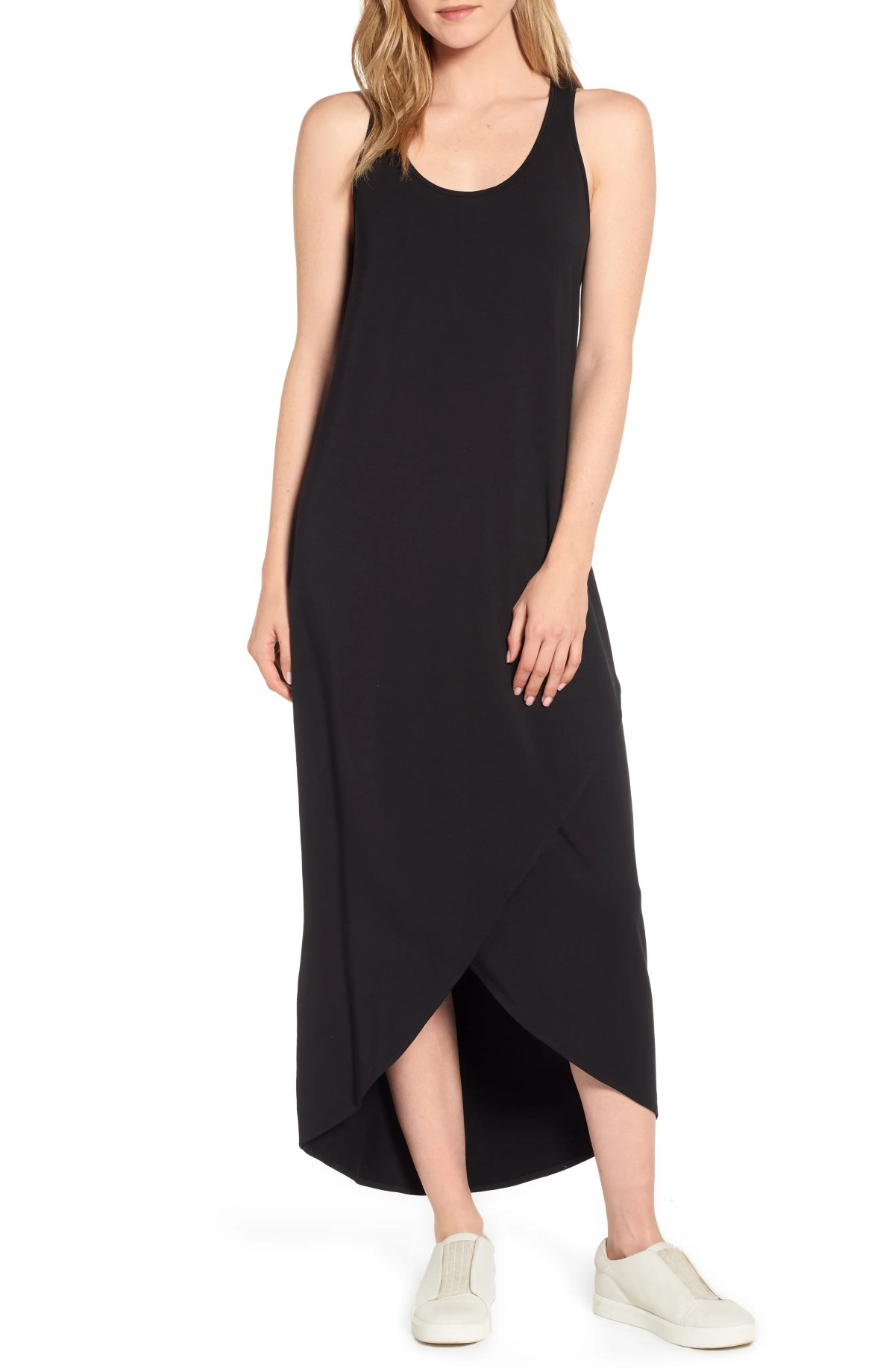 Ease Maxi Dress, Main, color, BLACK ONYX