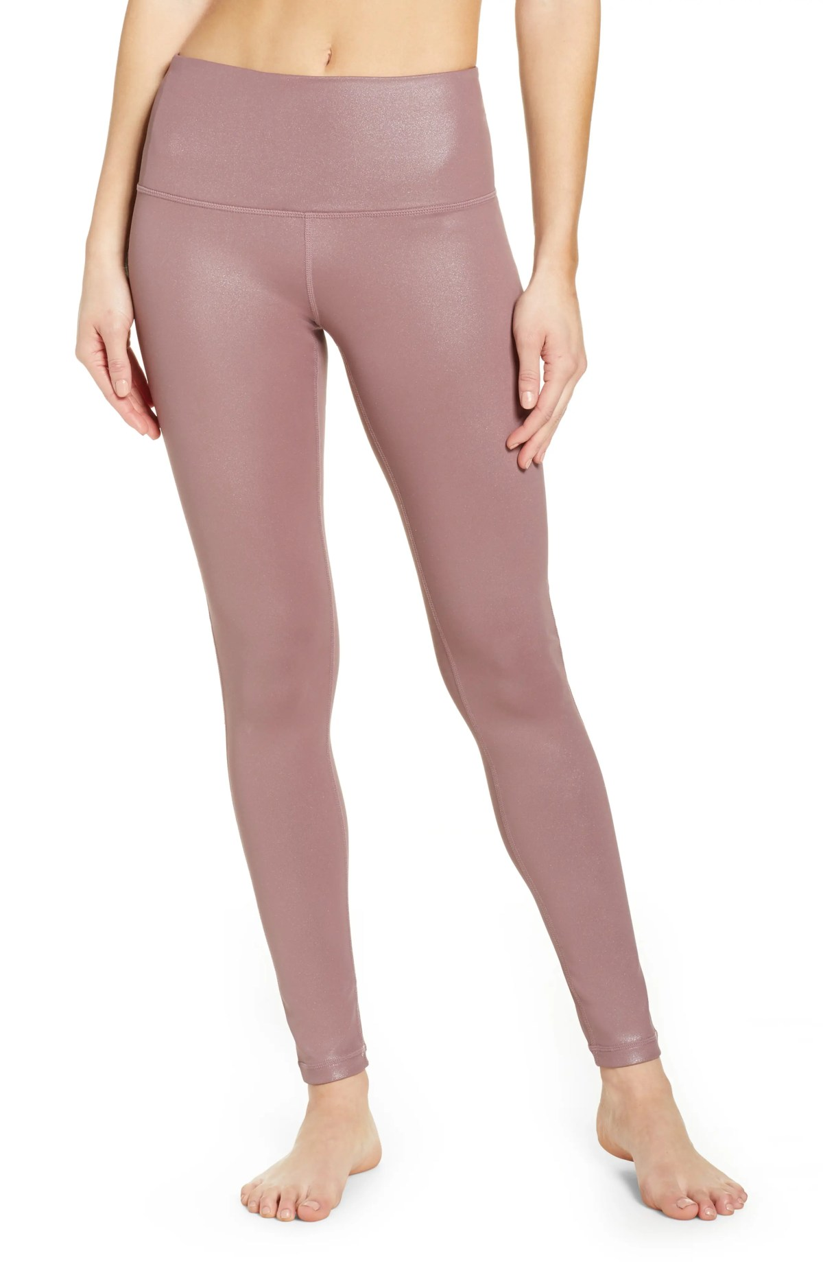 ZELLA Live-In High Waist Leggings, Main, color, PURPLE TAUPE SHINE PRINT