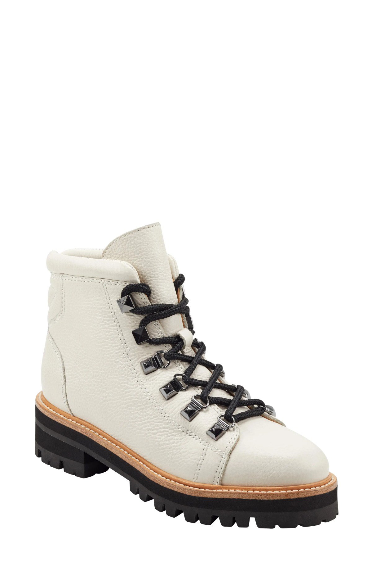 MARC FISHER LTD Issy Hiker Boot, Main, color, WHITE LEATHER