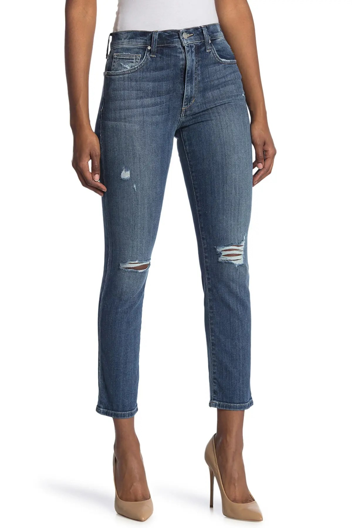 joe s jeans high rise distressed straight ankle jeans nordstrom rack
