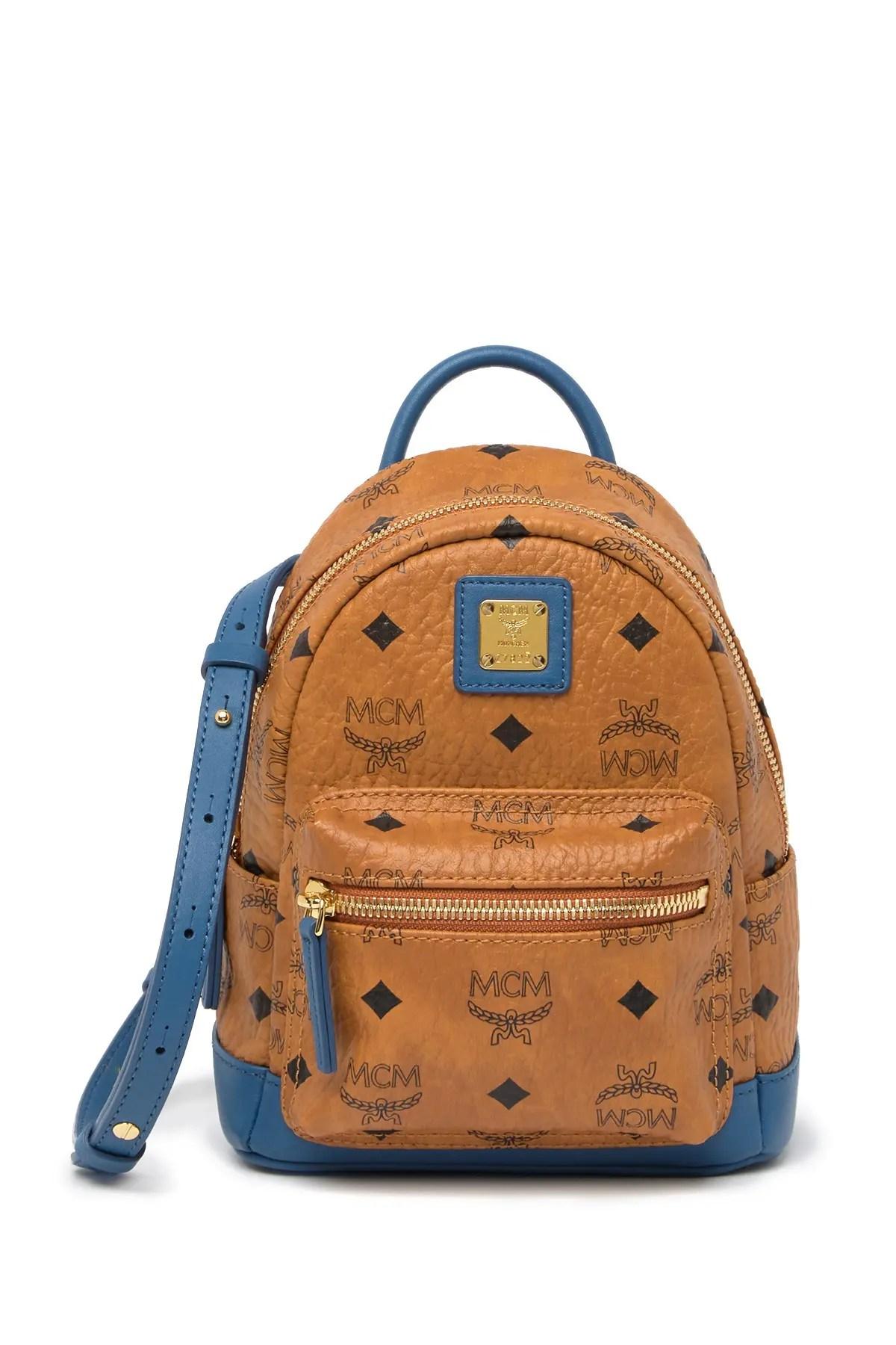 mcm mini visetos backpack nordstrom