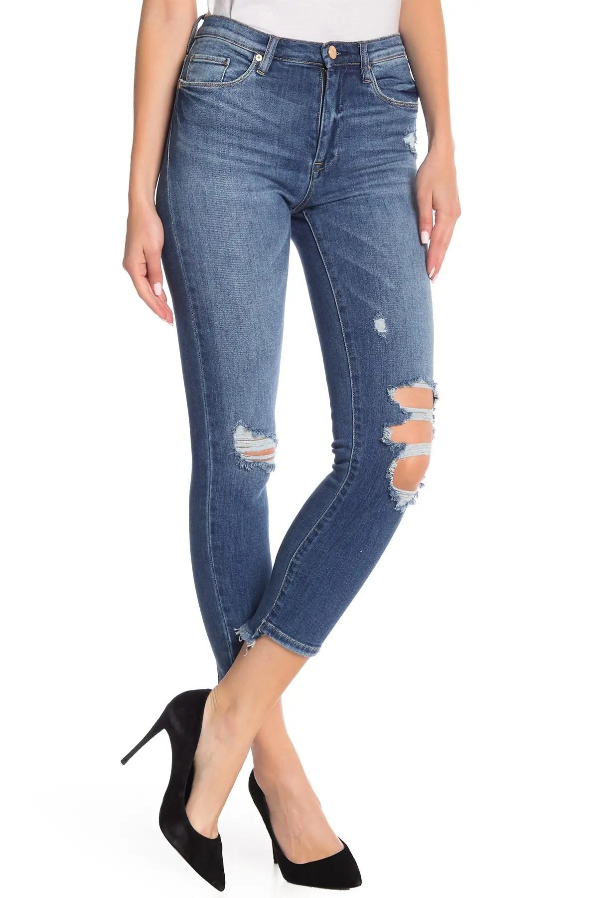 blanknyc denim the madison high rise crop jeans nordstrom rack
