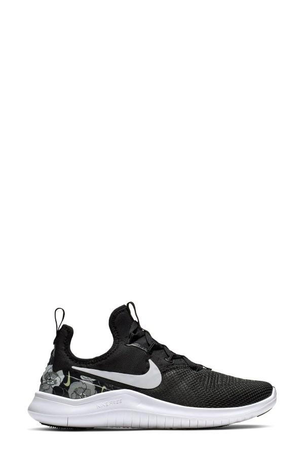 Free TR8 Training Shoe, Alternate, color, BLACK/ BLACK/ WHITE
