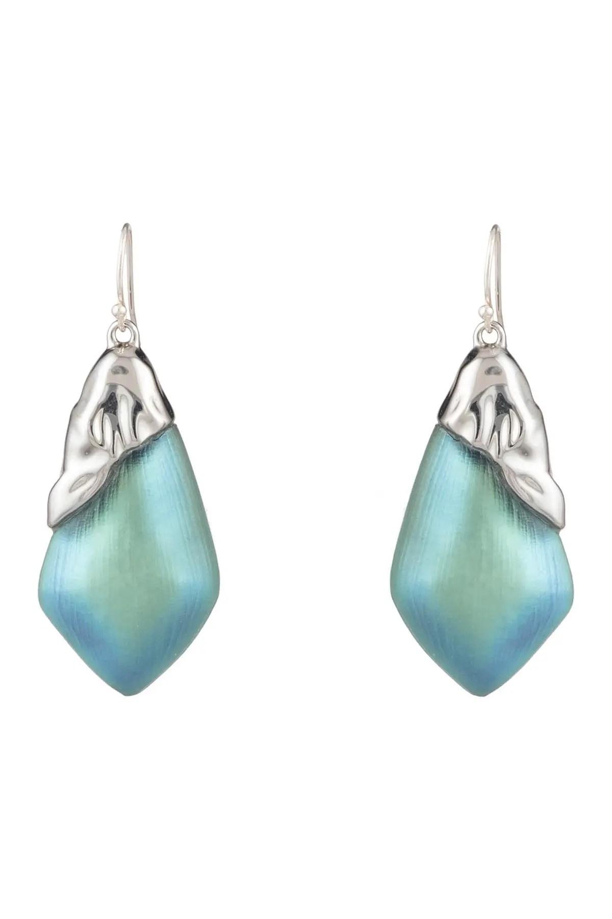 alexis bittar rhodium plated asymmetrical drop earrings nordstrom rack