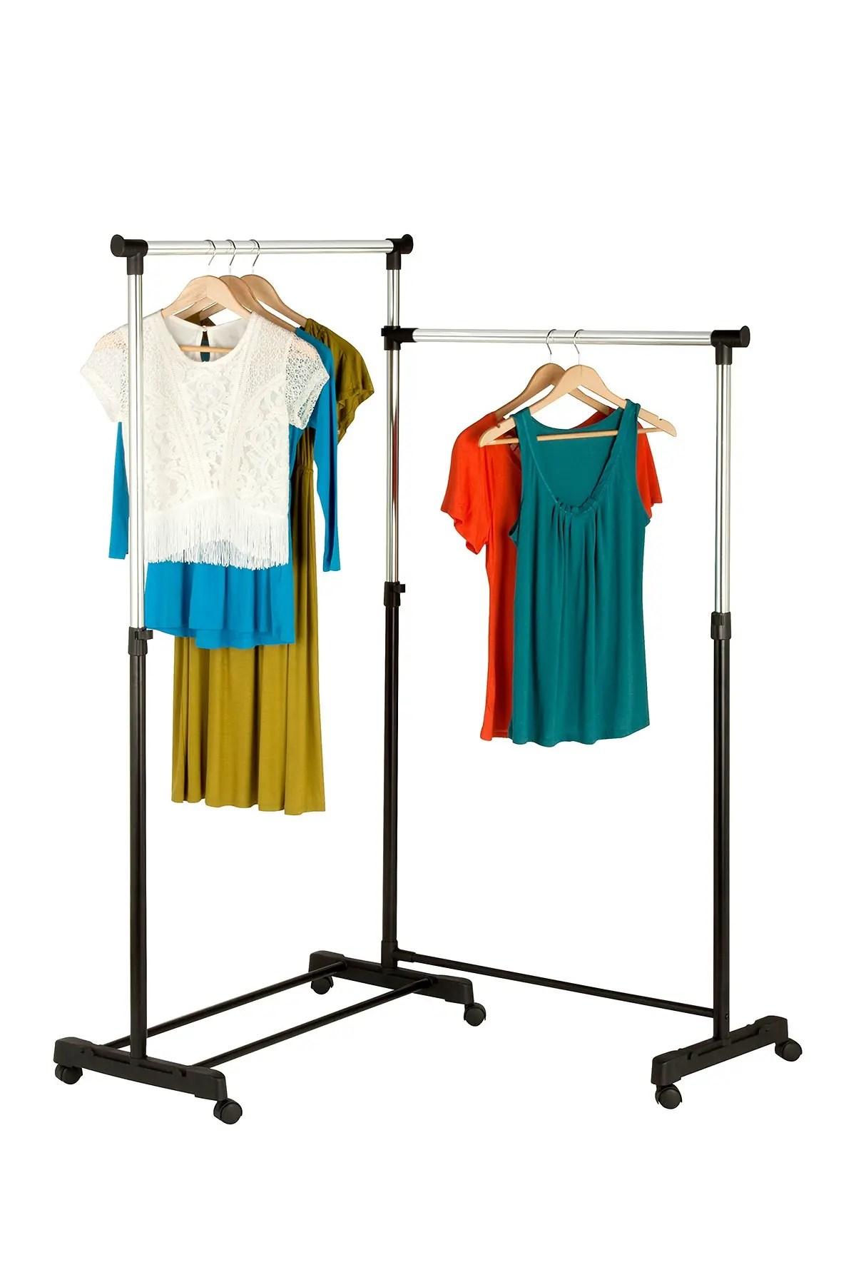 honey can do dual bar corner garment rack nordstrom rack