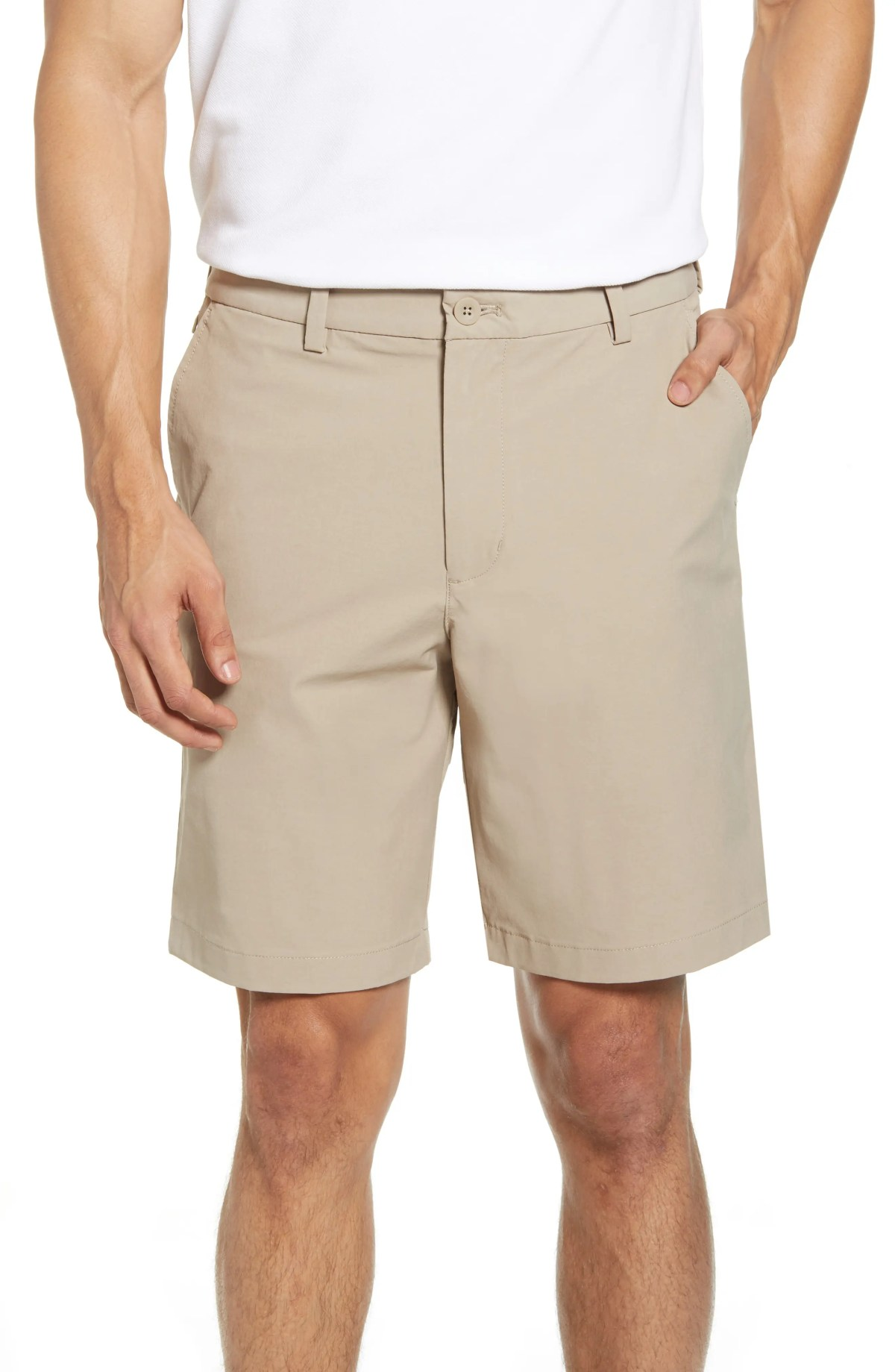 VINEYARD VINES On-The-Go Waterproof Performance Shorts, Main, color, KHAKI