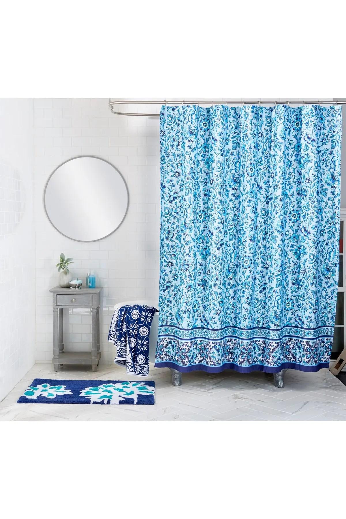 cloud vine shower curtain