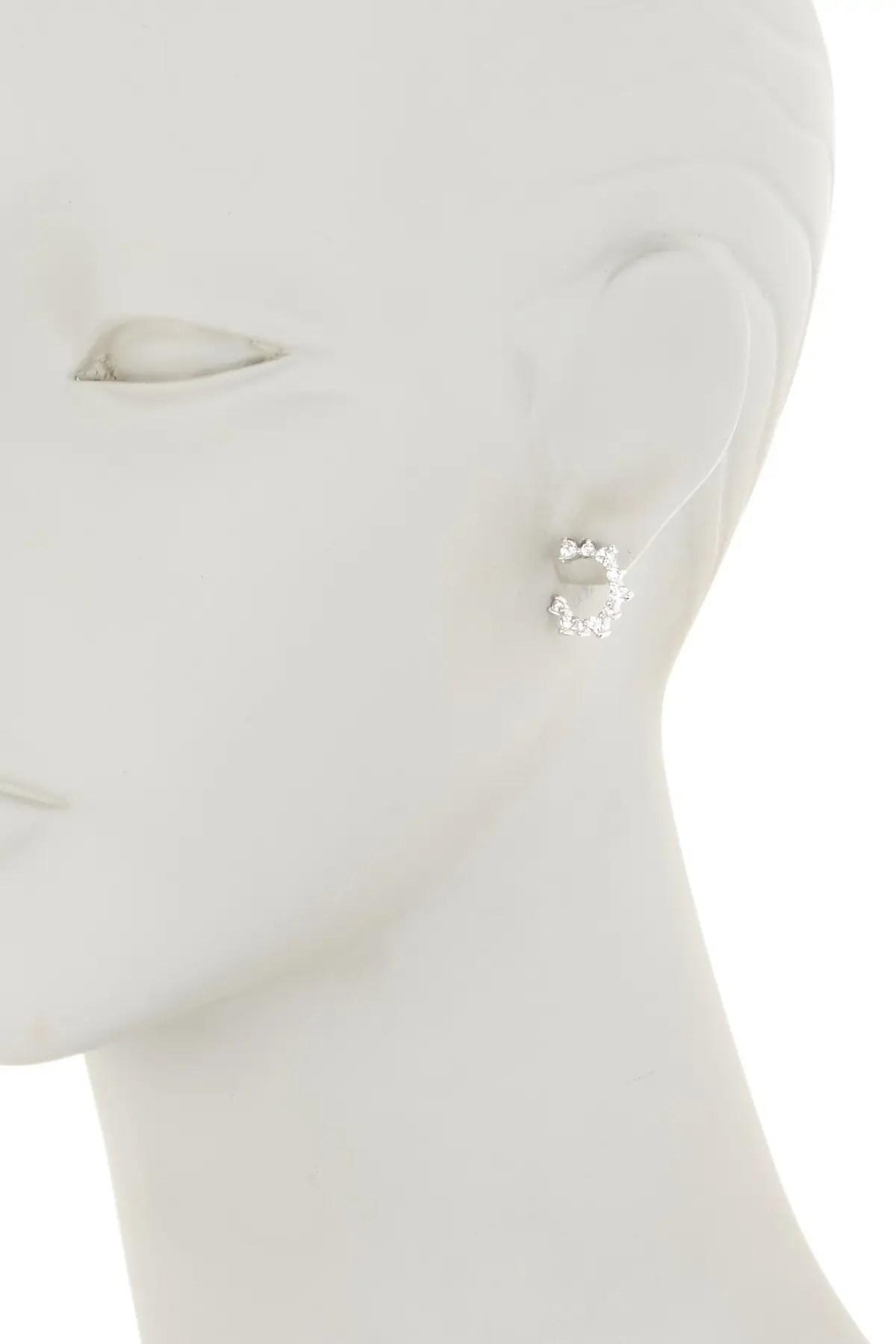 nordstrom rack pave cz curved stud earrings nordstrom rack
