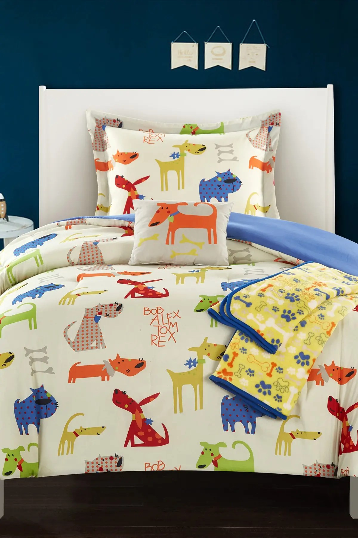 chic home bedding twin pet corral colorful man s best friend dog comforter set blue nordstrom rack
