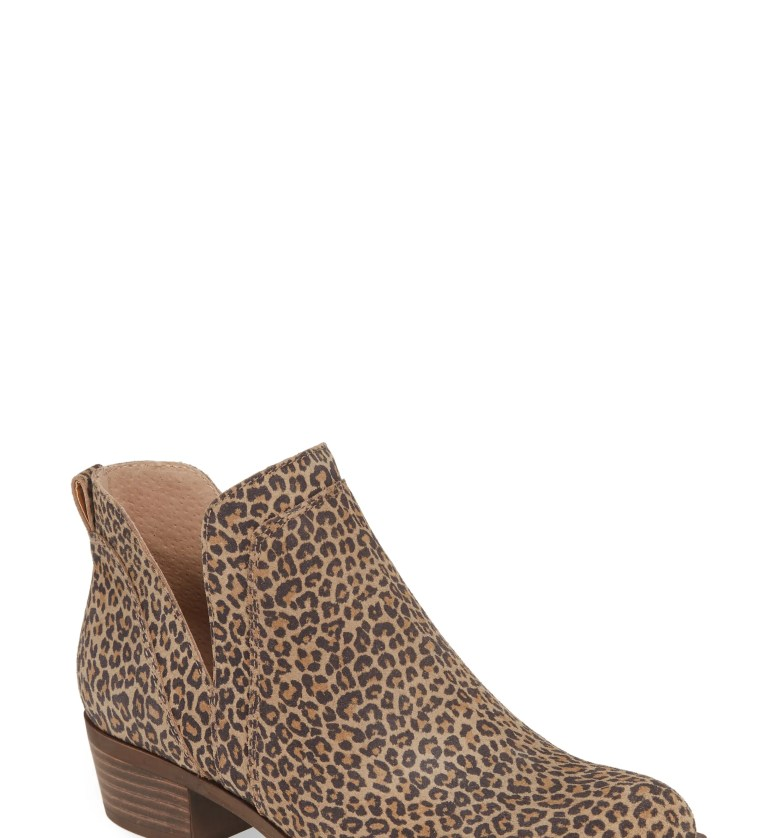 Bebhina Waterproof Western Bootie, Main, color, EYELASH PRINTED SUEDE
