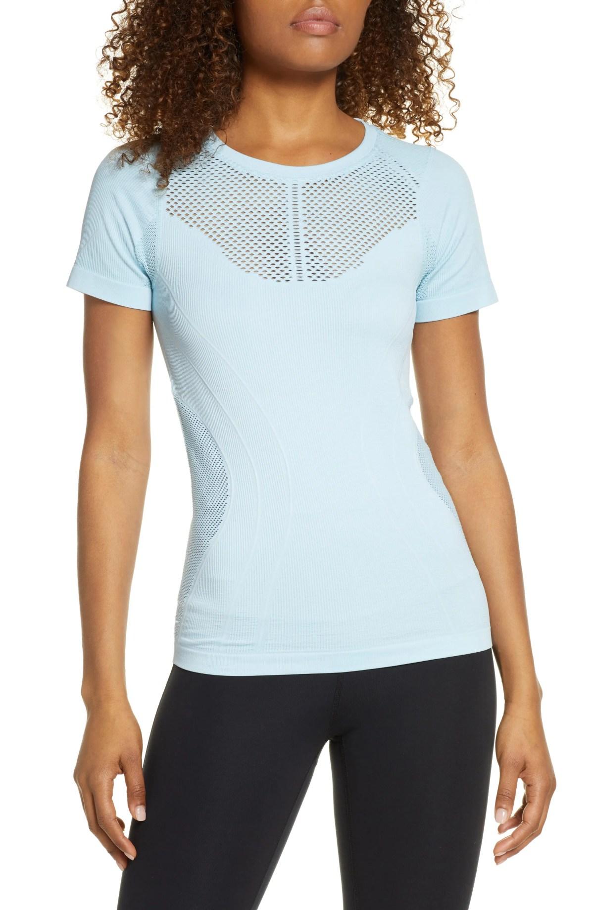 ZELLA Seamless Shirt, Main, color, BLUE ORYDALIS