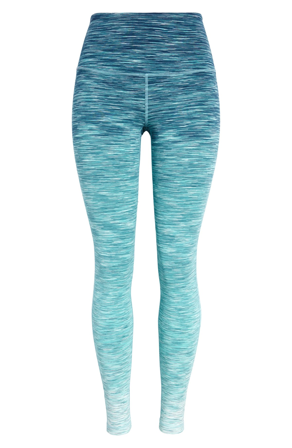 ZELLA Live In High Waist Leggings, Main, color, BLUE CERAMIC GRADIENT SPACEDYE