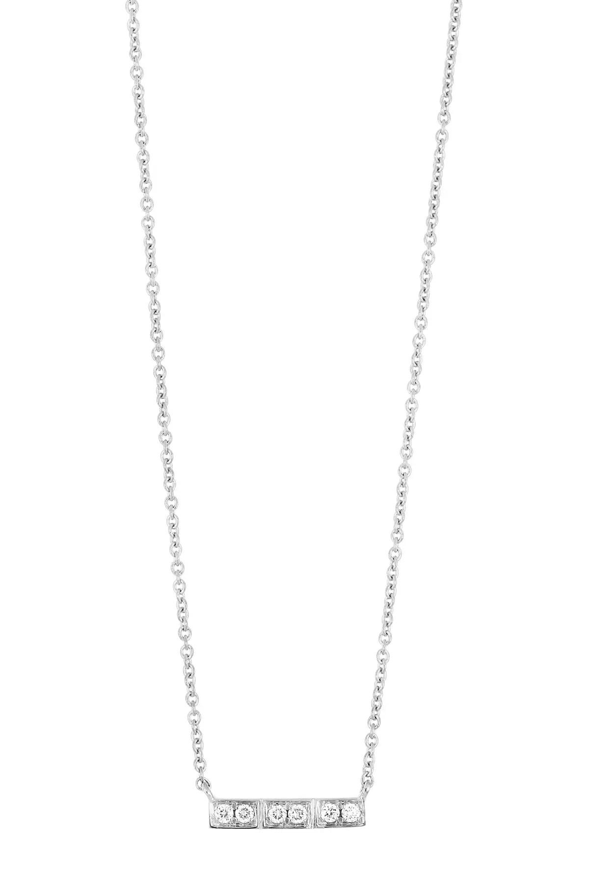 bony levy linea 18k white gold diamond bar pendant necklace 0 06 ctw nordstrom rack