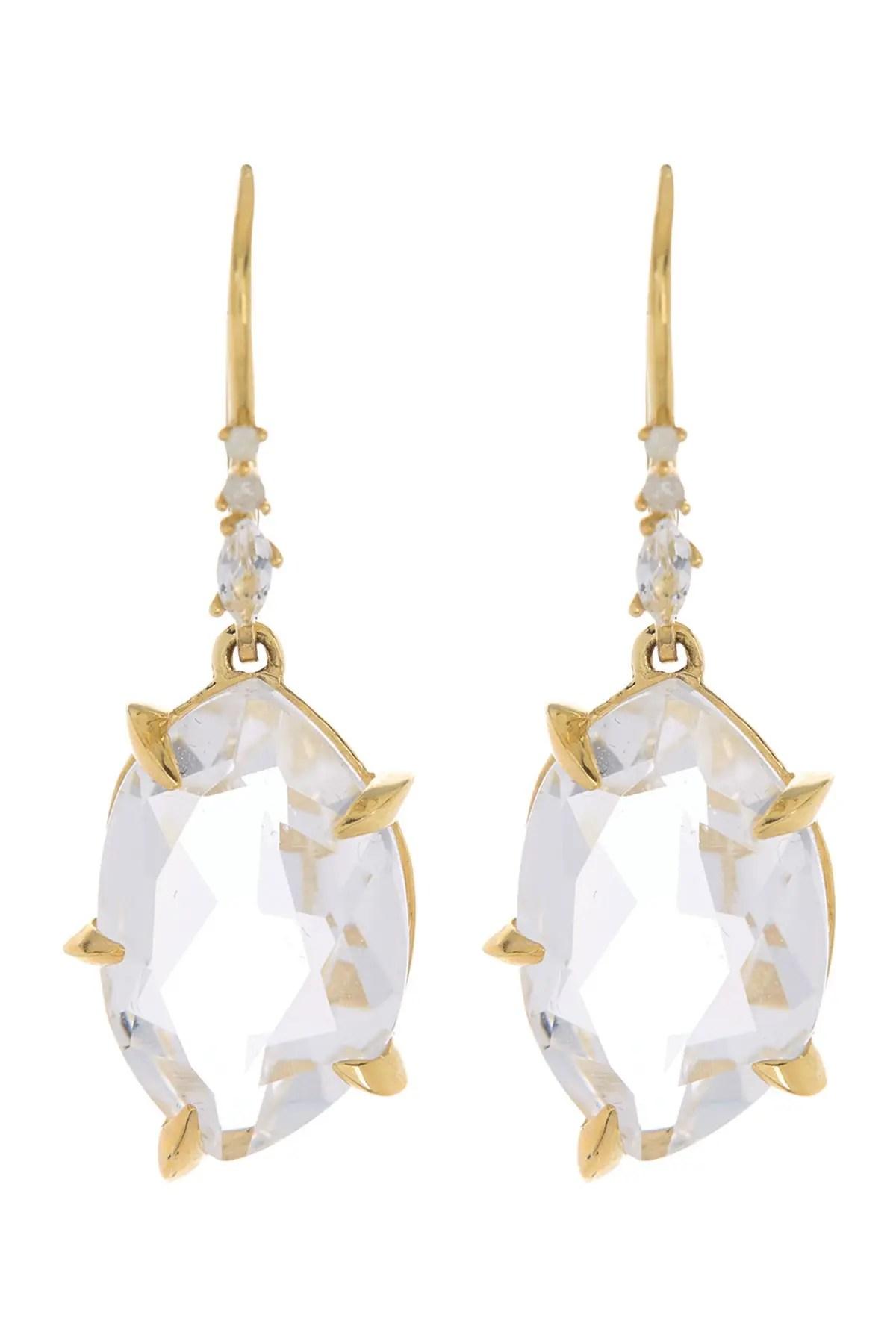 alexis bittar 18k gold fancy quartz diamond drop earrings nordstrom rack