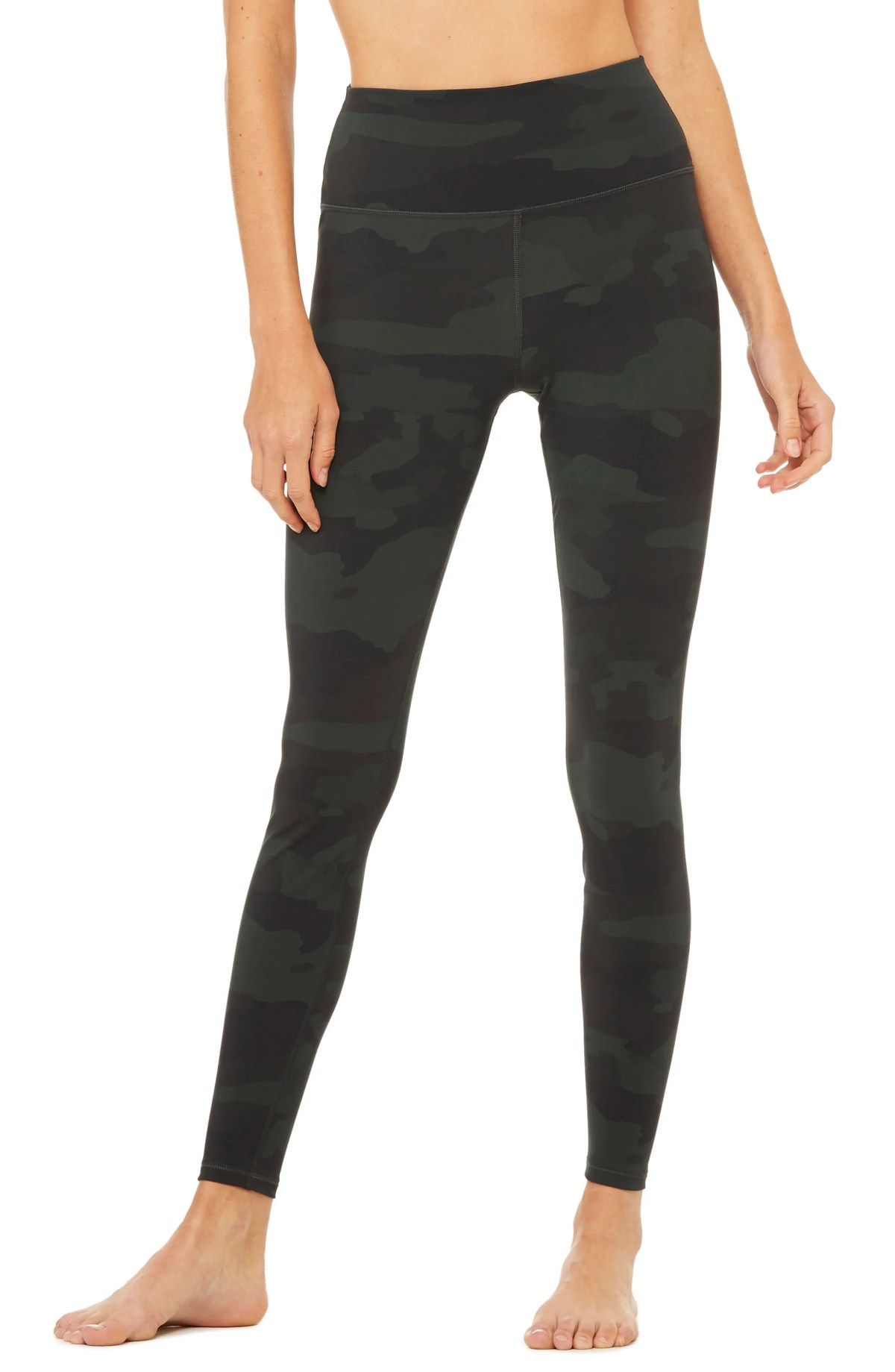 ALO Vapor High Waist Leggings, Main, color, HUNTER CAMOUFLAGE