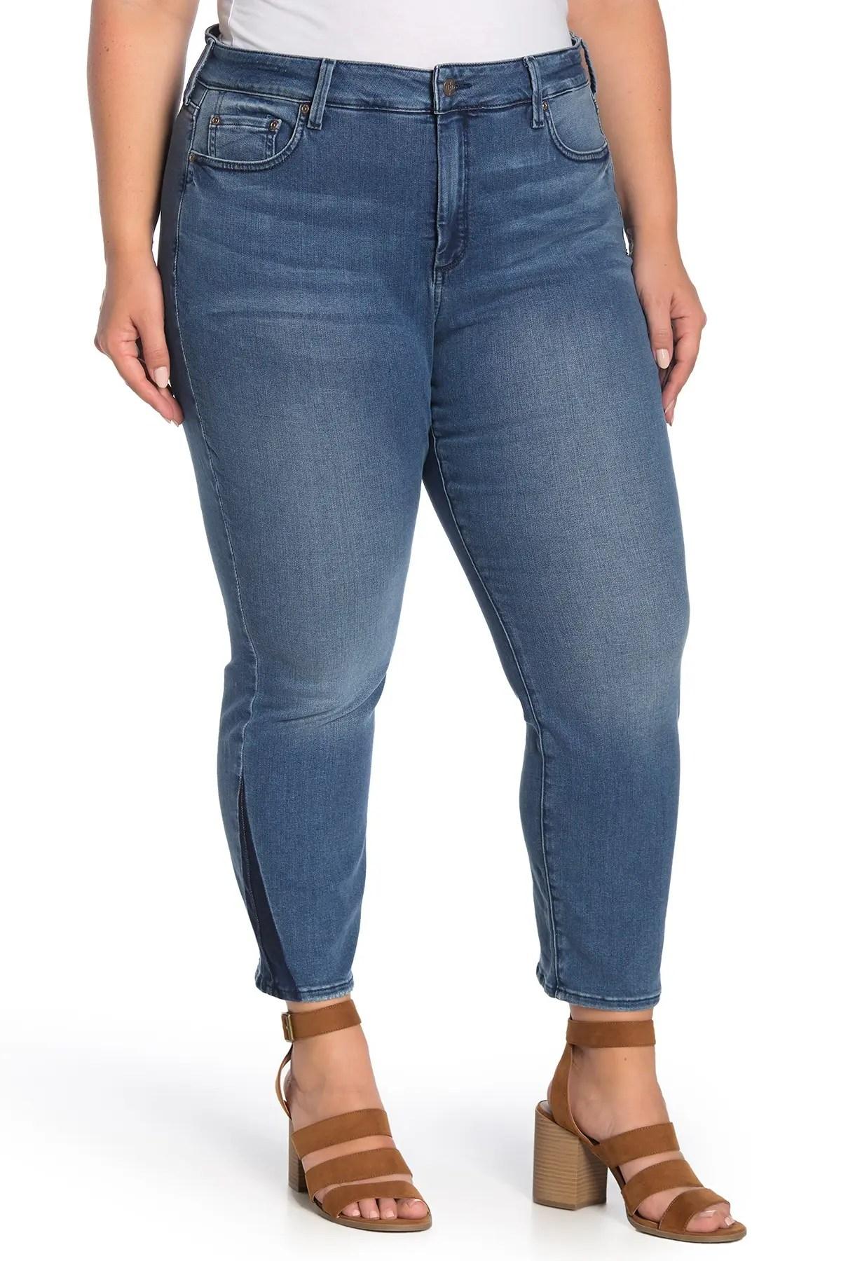 nydj sheri two tone slim ankle jeans nordstrom rack