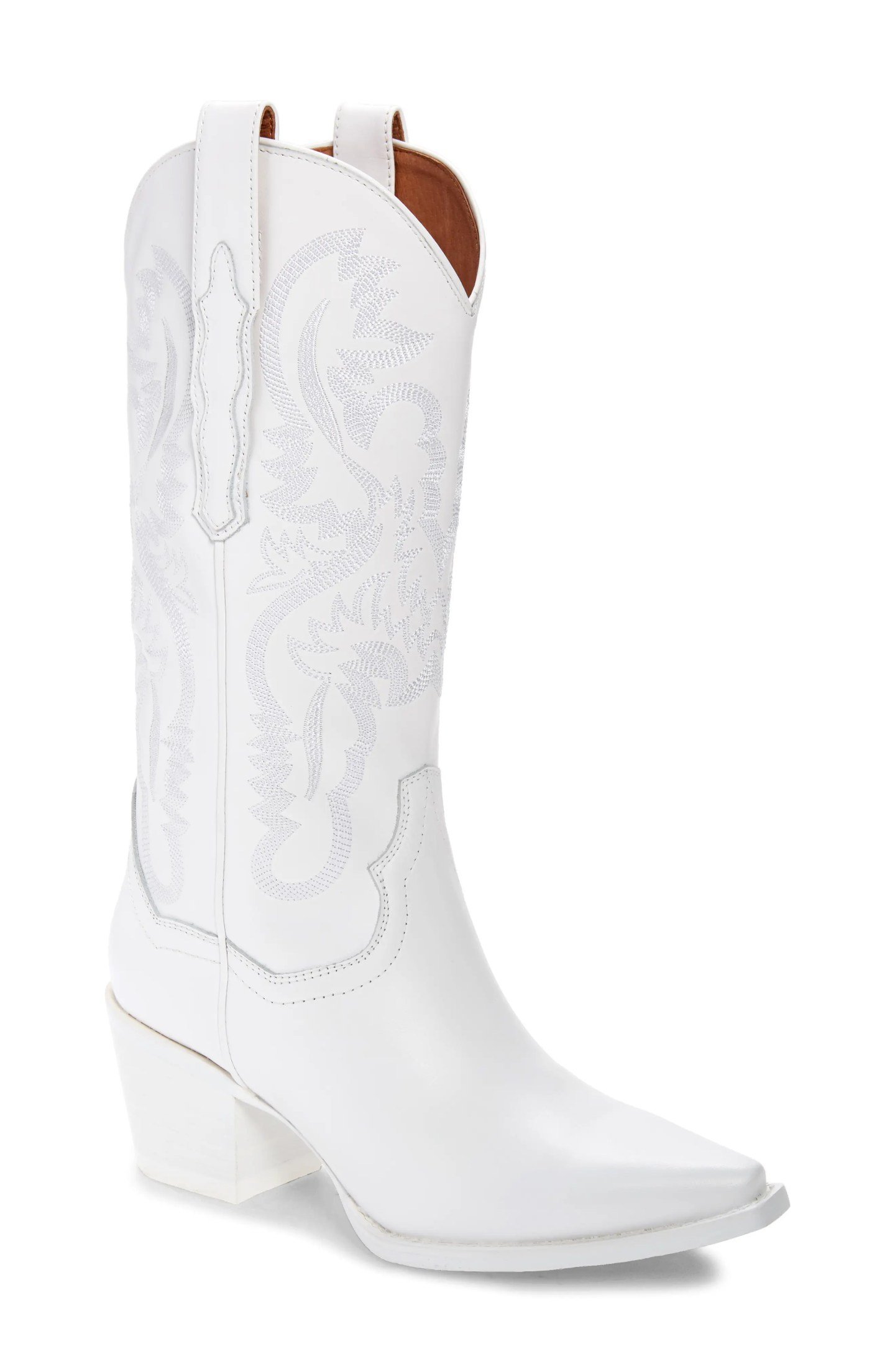 JEFFREY CAMPBELL Dagget Western Boot, Main, color, WHITE COMBO