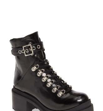 JEFFREY CAMPBELL Czech Platform Combat Boot, Main, color, BLACK BOX