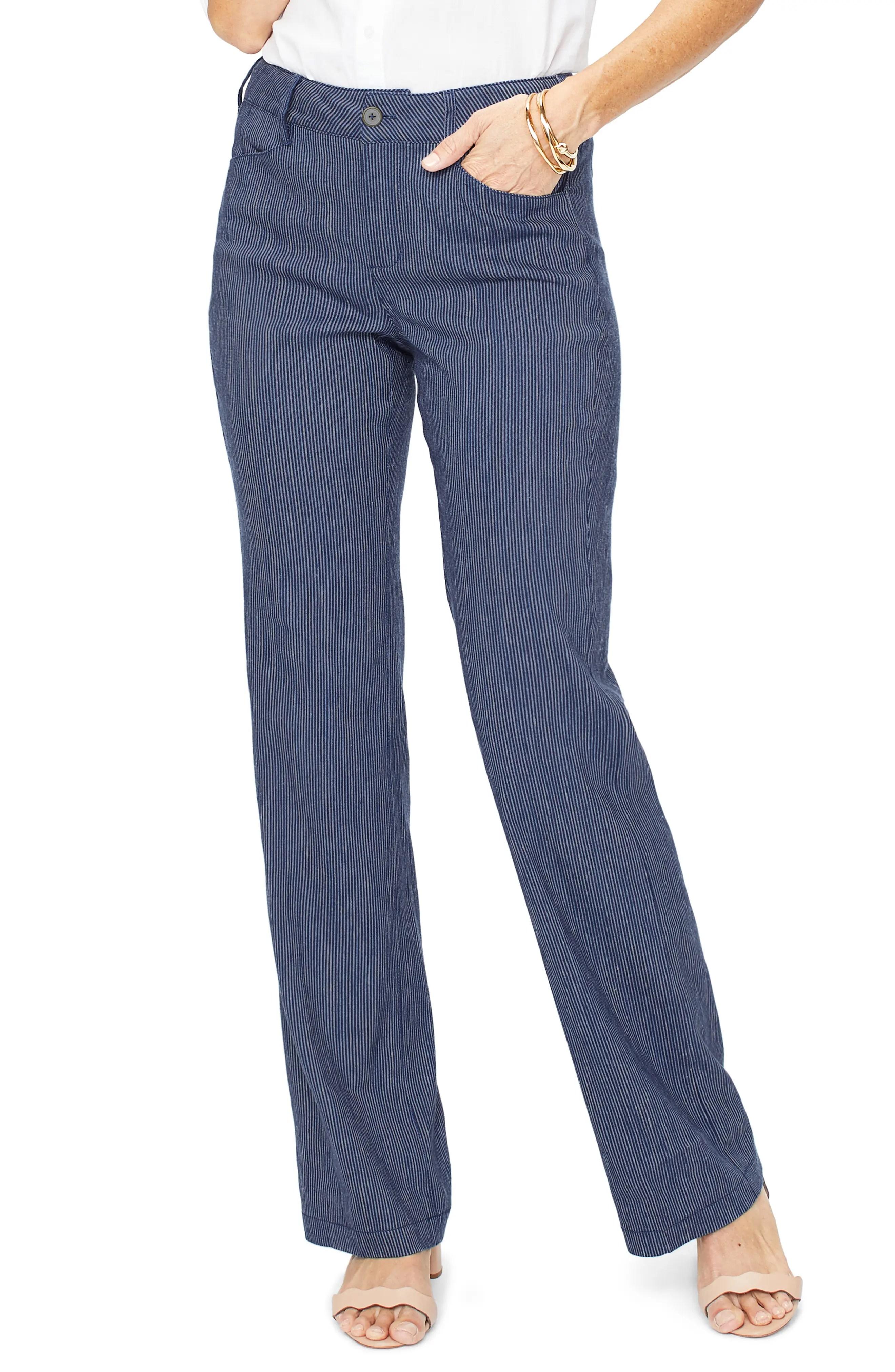 nydj linen trousers nordstrom rack