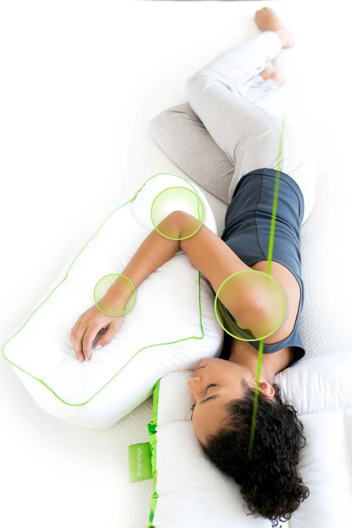 rio home sleep yoga side sleeper arm rest pillow white nordstrom rack
