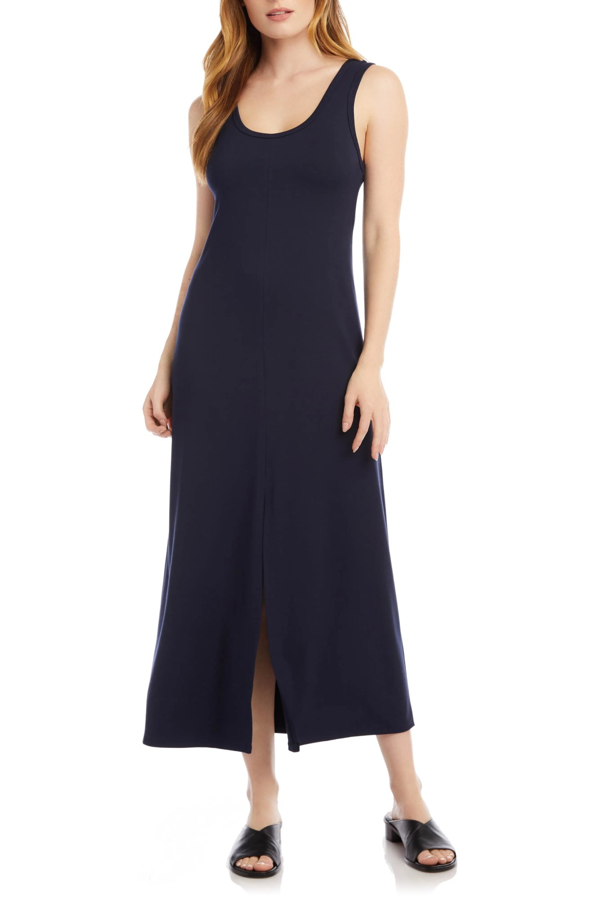 KAREN KANE Midi Tank Dress, Main, color, NAVY