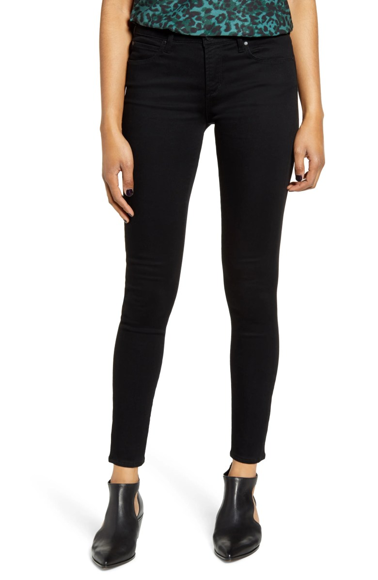 Sarah Skinny Ankle Jeans, Main, color, BLACK STONE