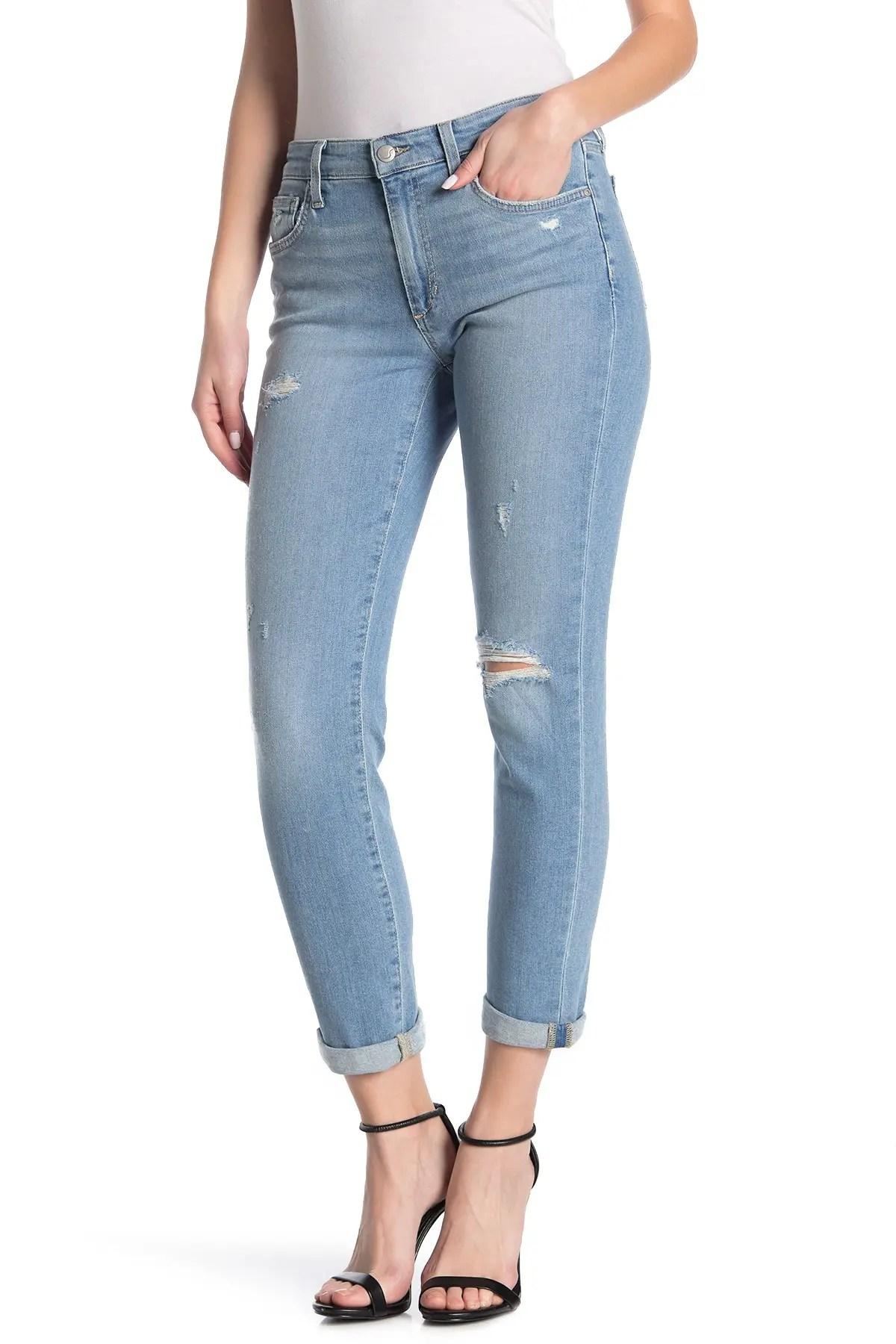 slim fit boyfriend crop jeans
