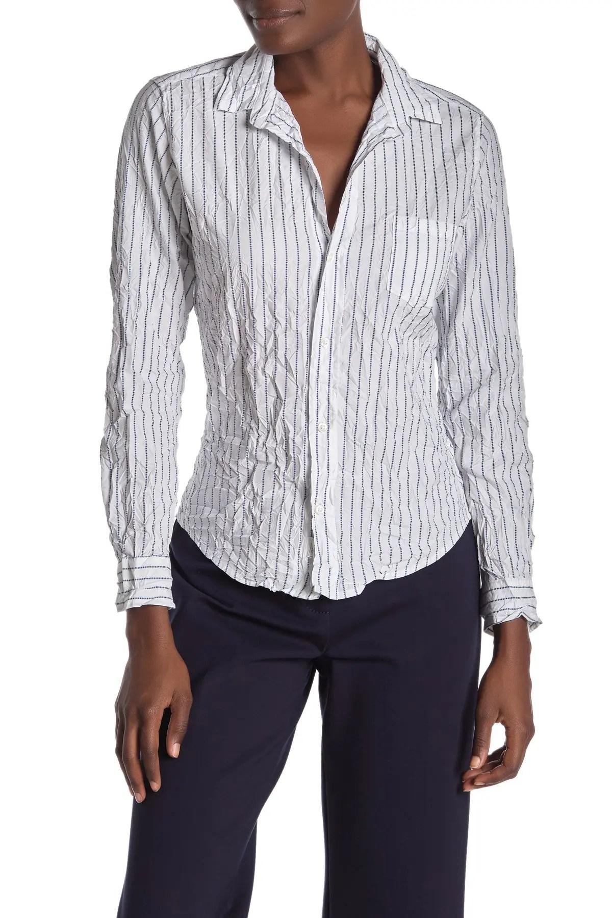 frank eileen barry signature crinkle dot stripe print shirt nordstrom rack