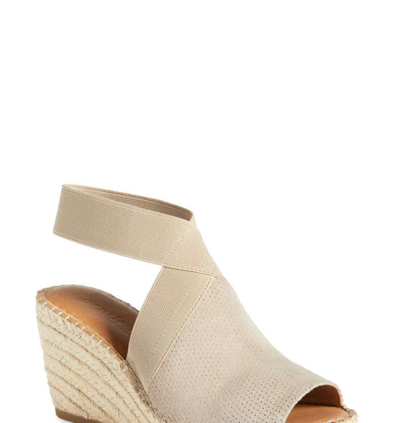 Colleen Espadrille Wedge, Main, color, MUSHROOM SUEDE
