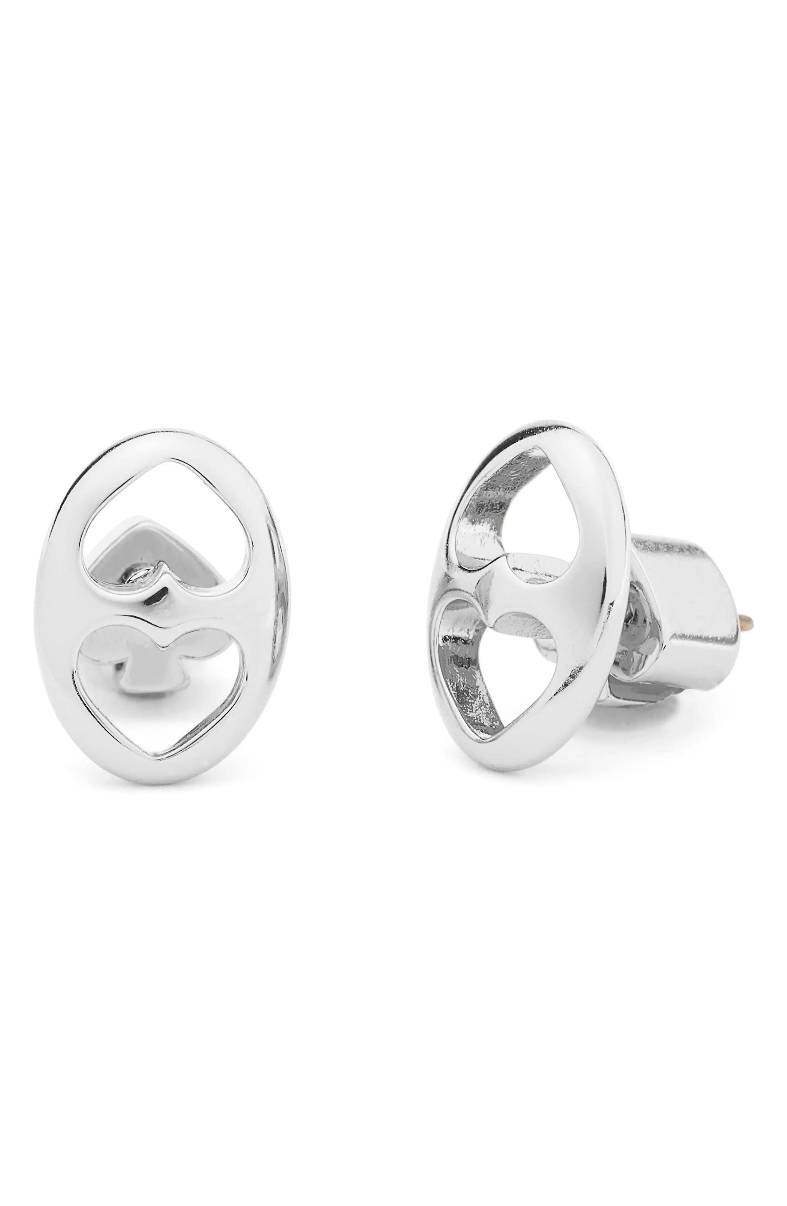 kate spade new york duo link double spade stud earrings nordstrom rack